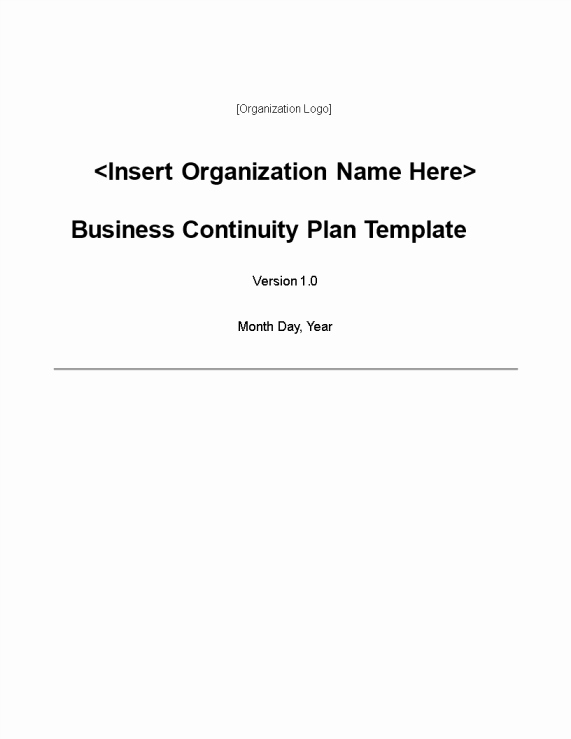 Small Business Continuity Plan Template Unique Disaster Recovery Templates