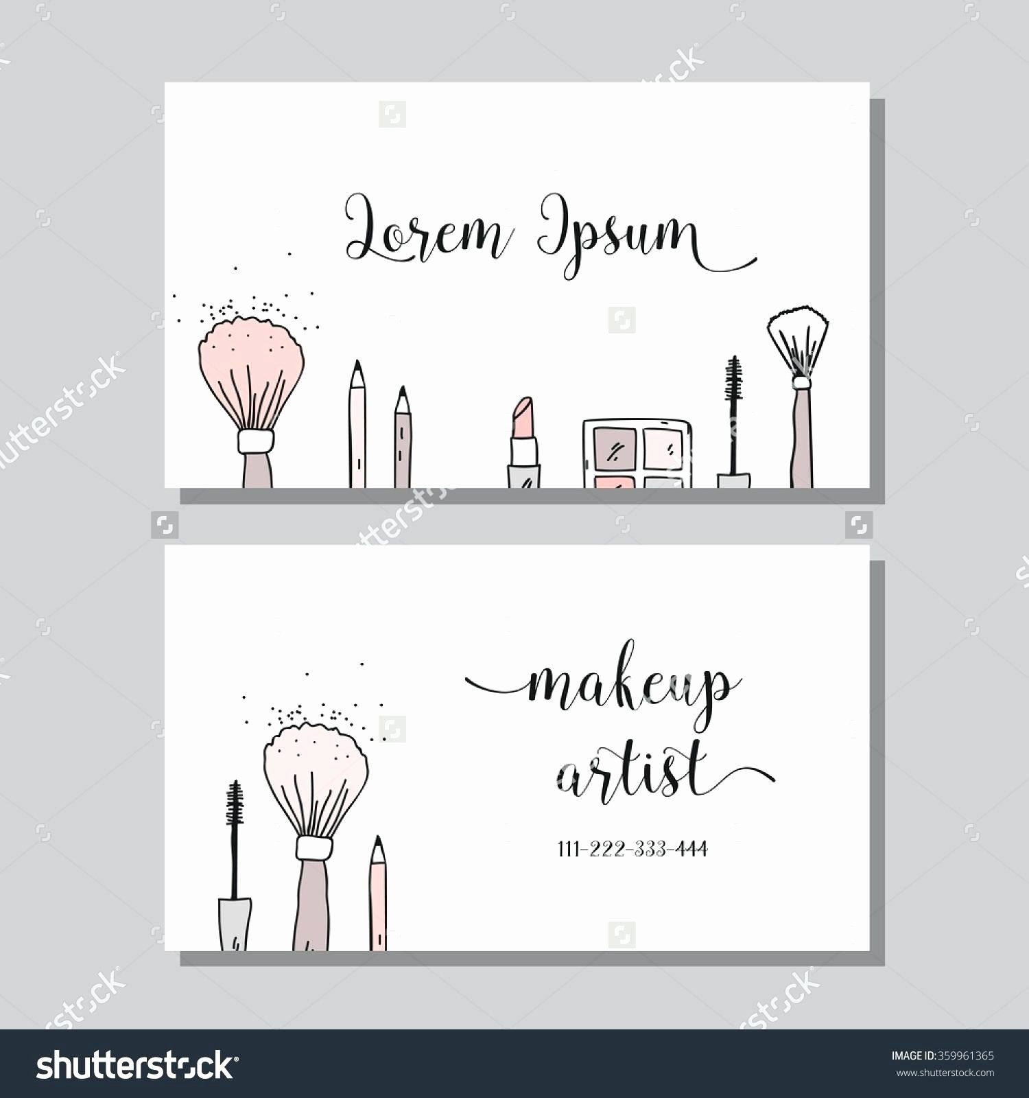 Small Business Subcontracting Plan Template Fresh Valid Makeup Artist Business Cards Templates Free
