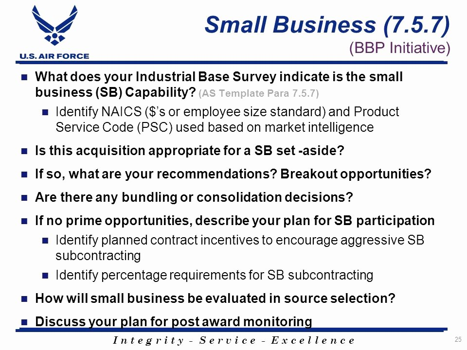 Small Business Subcontracting Plan Template Inspirational Acquisition Strategy as Panel Template Ppt
