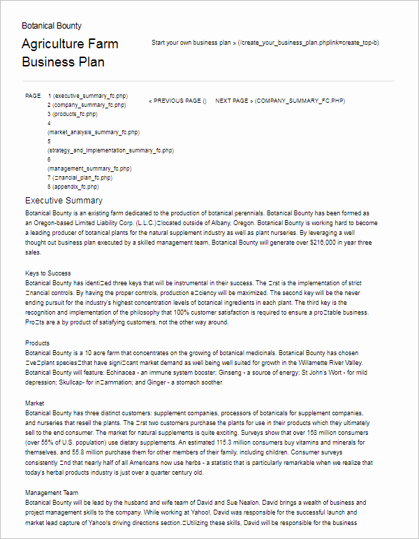 Small Farm Business Plan Template Inspirational 24 Business Plan Templates Free Word Excel Pdf formats