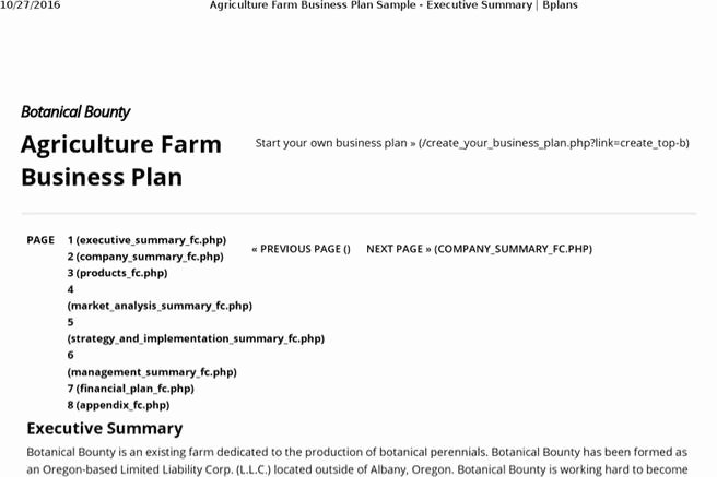 Small Farm Business Plan Template New 7 Farm Business Plan Templates Free Download