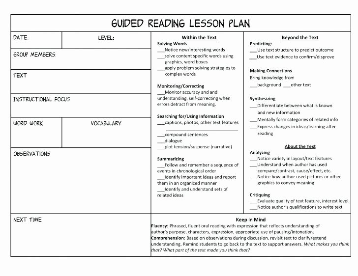 Small Group Lesson Plan Template Best Of Group Lesson Plan Template Small Group Lesson Plan