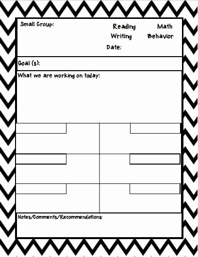 Small Group Lesson Plan Template New 25 Best Ideas About Anecdotal Notes On Pinterest