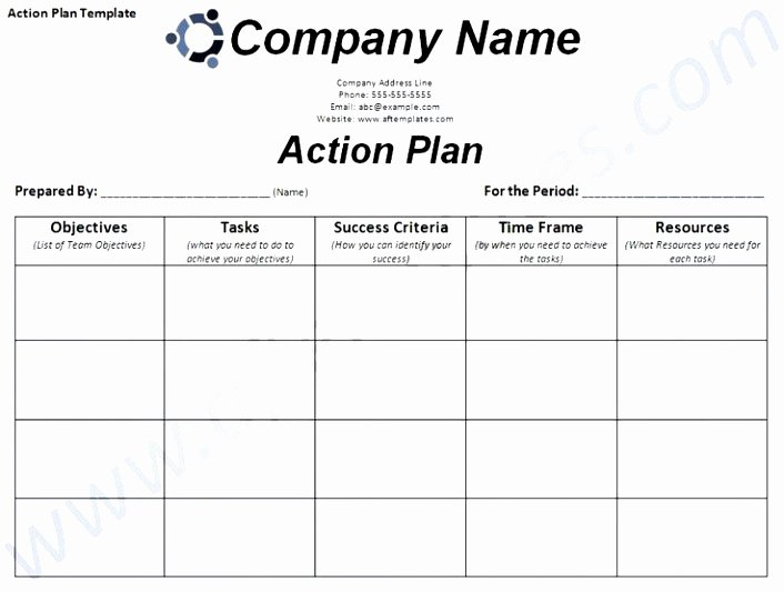 Smart Action Plan Template Beautiful 6 Smart Action Plan Template Word Poiwa
