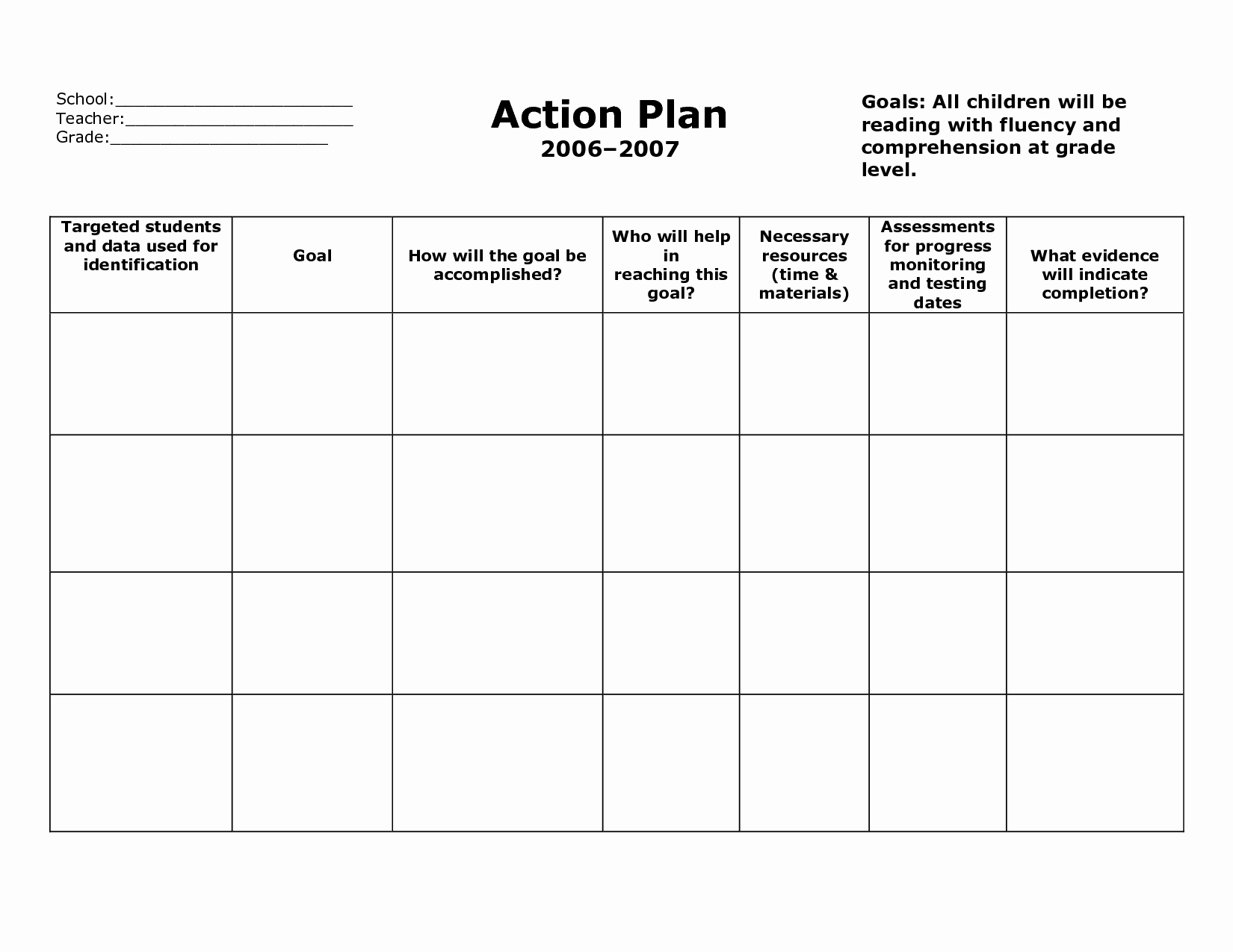 Smart Action Plan Template Best Of Action Plan Template Action Plan format V5fclyv5