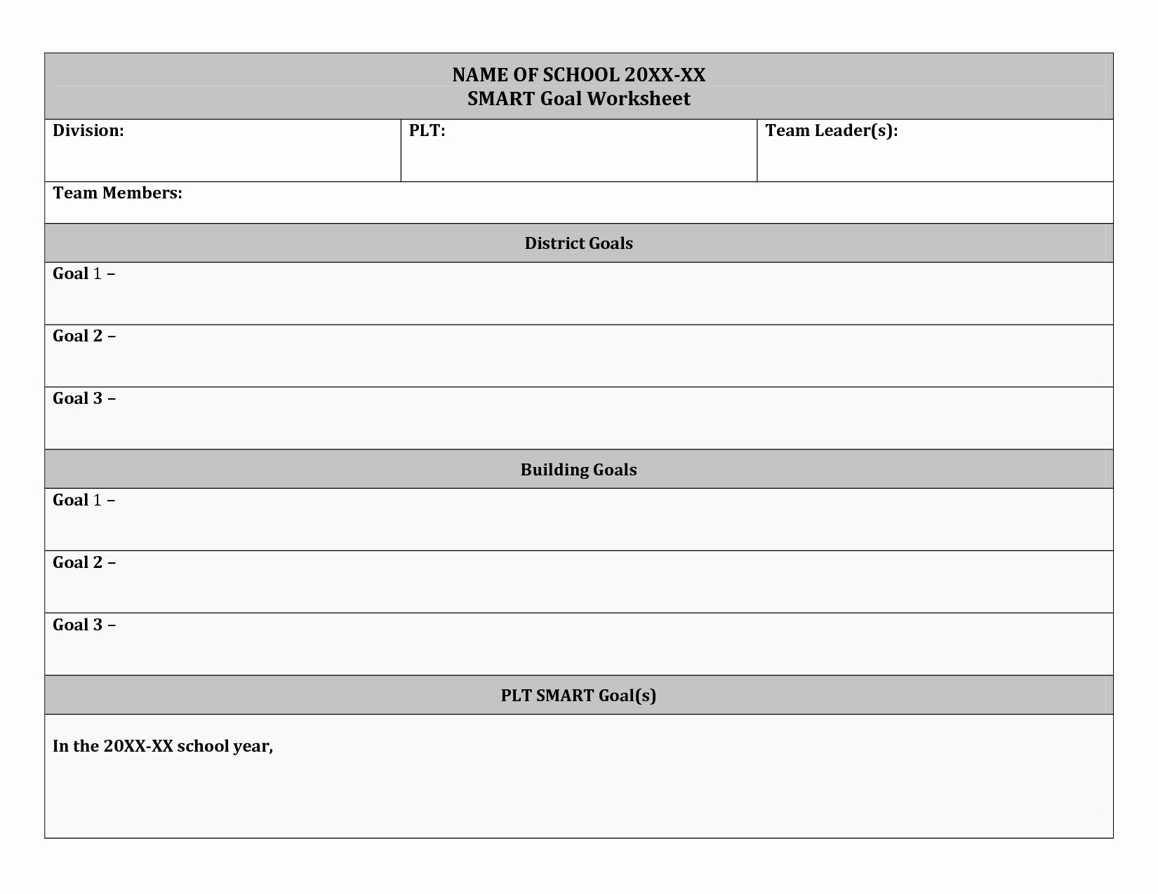 Smart Action Plan Template New 20 Best Of Smart Goals Worksheet for Education