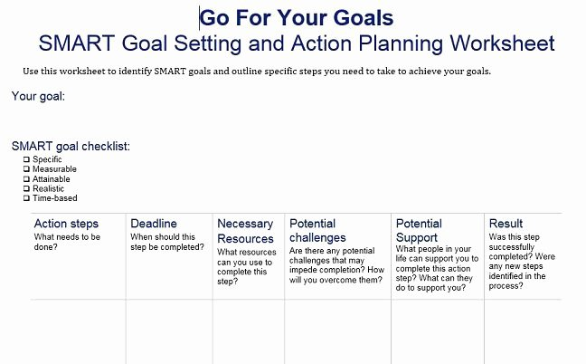 Smart Action Plan Template Unique 40 Smart Goals Templates Ready to Use Excel Pdf Word