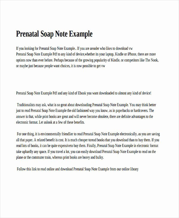 Soap Charting Examples Awesome 14 soap Note Examples Pdf