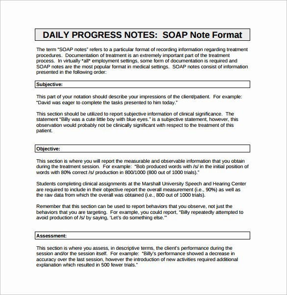 Soap Charting Examples Beautiful 15 soap Note Examples Free Sample Example format