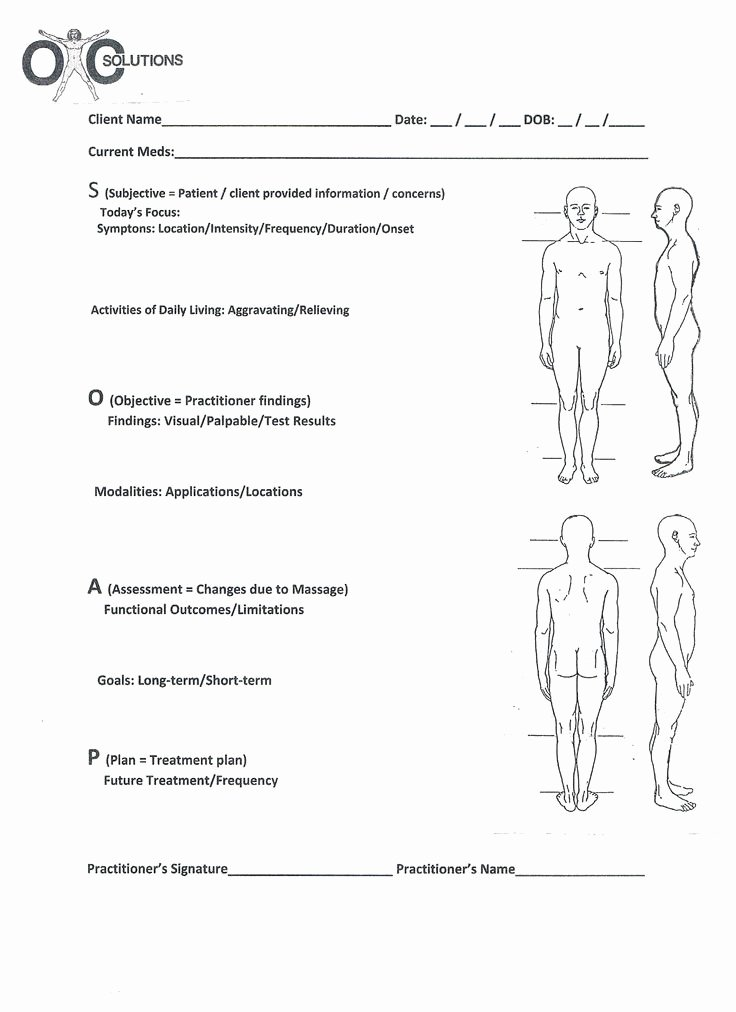 Soap Charting Examples Unique soap Note Massage therapy Blank Google Search