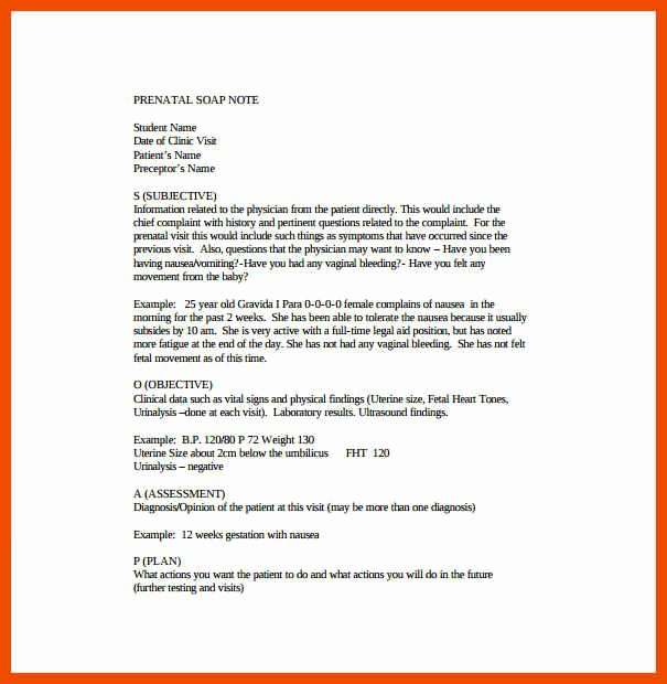 Soap Note Layout Best Of 0 1 soap Note format