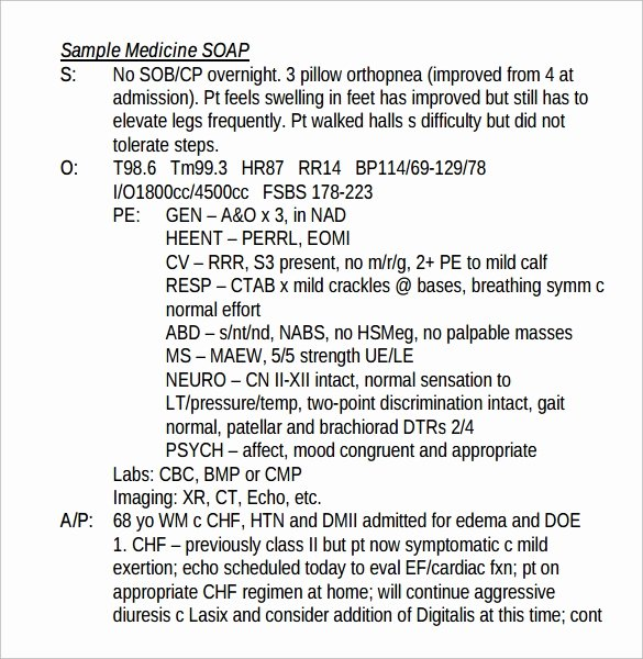 Soap Note Layout Luxury 15 soap Note Examples Free Sample Example format