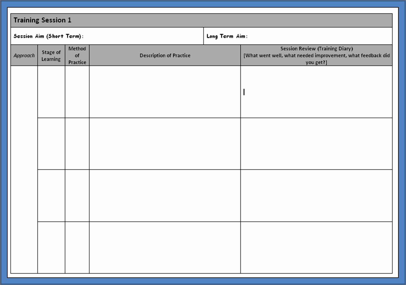 Soccer Practice Plan Template Awesome 26 Of Session Plan Template