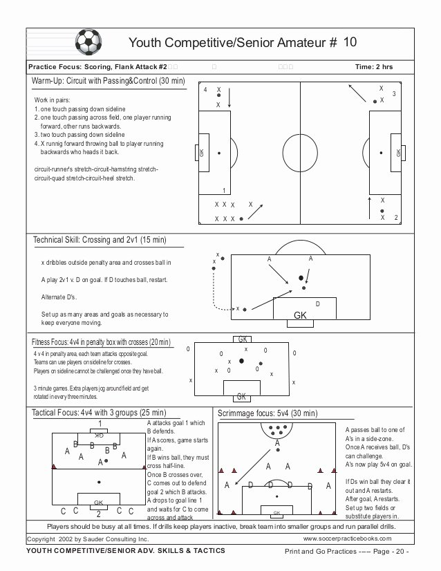 Soccer Practice Plan Template Inspirational Book Print & Go soccer Practice Plans