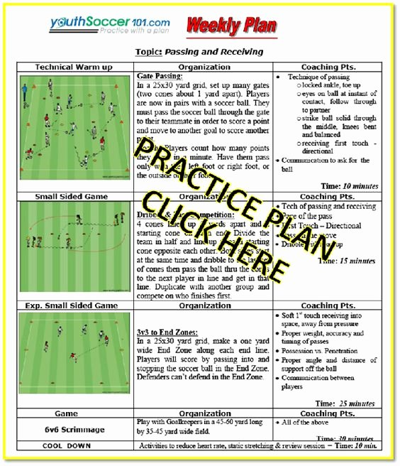 Soccer Practice Plan Template Lovely Pinterest • the World's Catalog Of Ideas