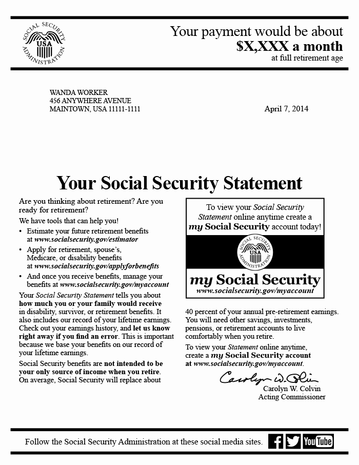 Social Security Awards Letter 2015 Awesome social Security Award Letter Copy