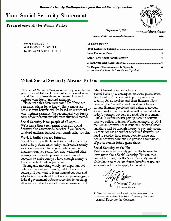 Social Security Awards Letter 2015 Awesome Your social Security Statement Best Template Collection