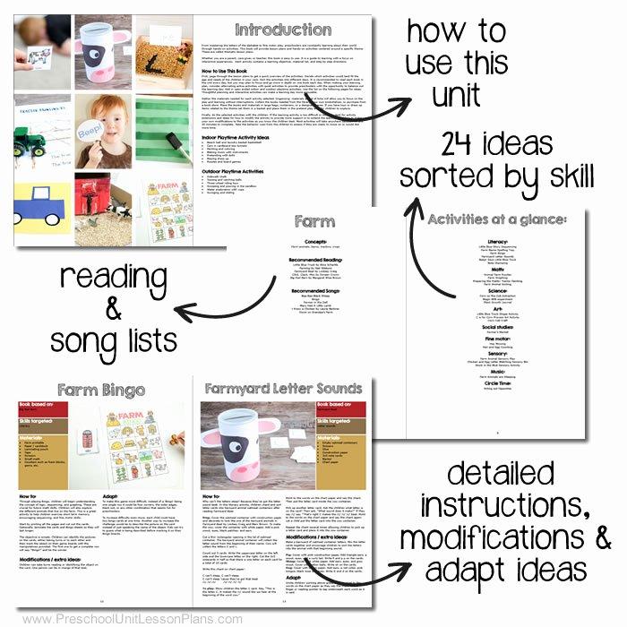 Social Skills Lesson Plan Template Beautiful A Year Of Preschool Lesson Plans 20 Preschool theme Units