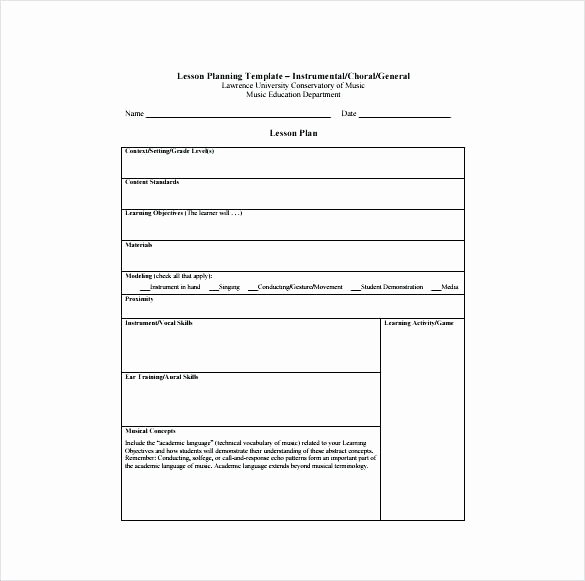 Social Studies Lesson Plan Template Inspirational Lesson Plan Template Pdf Blank Lesson Plan format K Sample