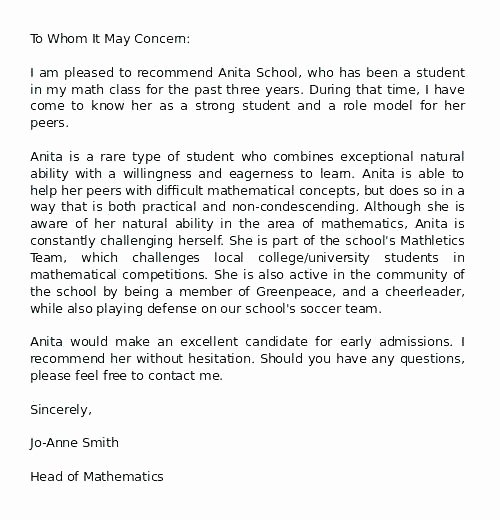 Social Work Letter Of Recommendation Awesome Sample Reference Letter for School social Worker