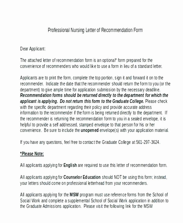 Social Work Letter Of Recommendation Elegant Sample Reference Letter for social Worker