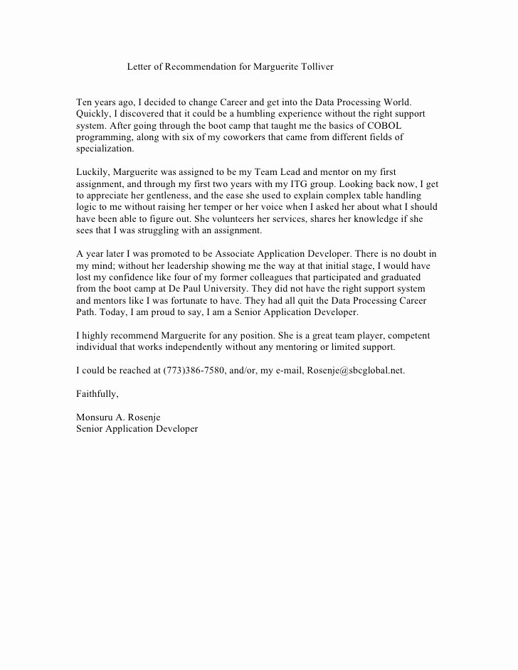 Social Worker Letter Of Recommendation Beautiful Reference Letter From Co Worker