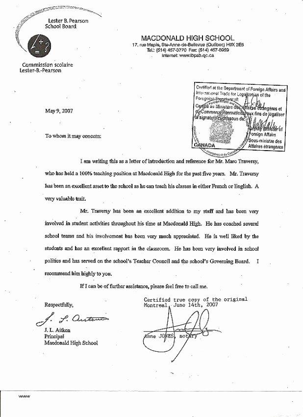 sample reference letter for school social worker