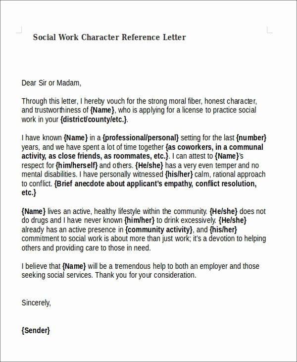 Social Worker Recommendation Letter Fresh 22 Work Letter Samples
