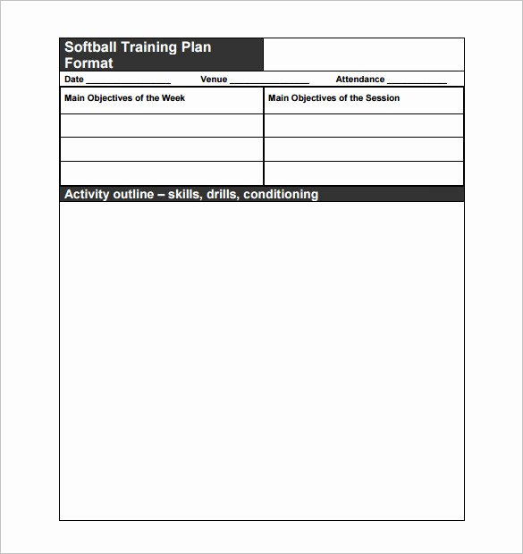 Softball Practice Plan Template Best Of 13 Practice Schedule Templates Word Excel Pdf