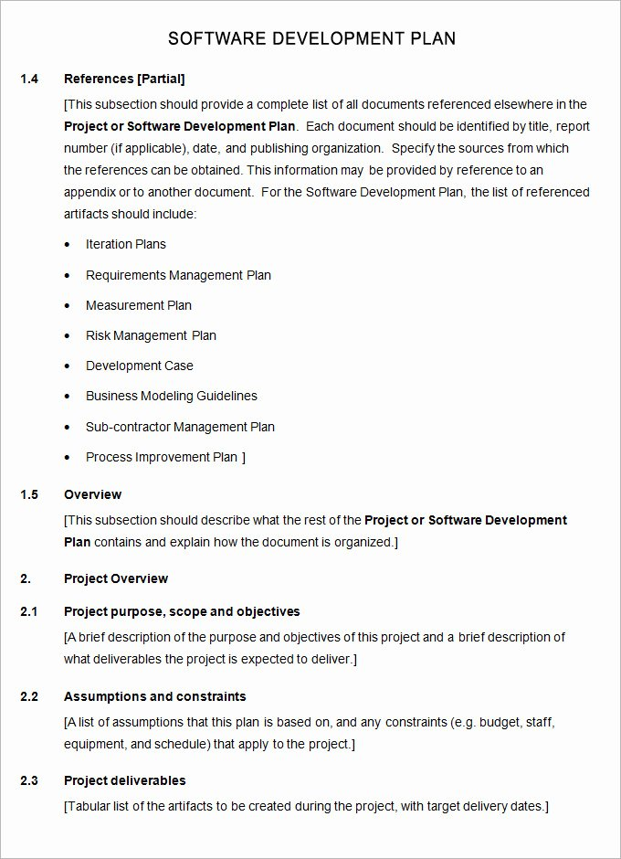 Software Development Plan Template Awesome software Plan Template 7 Free Word Pdf Excel