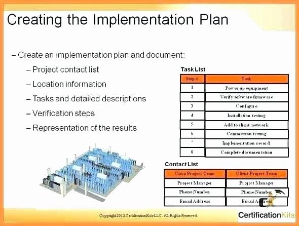 Software Implementation Plan Template Elegant software Installation Plan Template Project Management