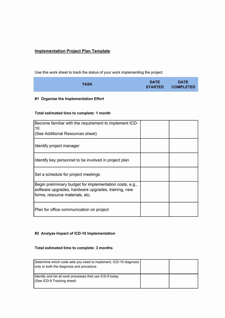 Software Implementation Plan Template Luxury 6 Sample Project Implementation Plan Templates Free Download
