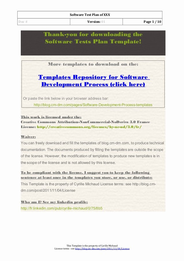 Software Testing Plan Template Beautiful 03 software Test Plan Template