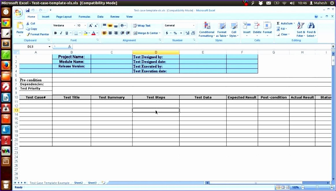 Software Testing Plan Template Fresh 12 software Test Plan Template Excel Exceltemplates