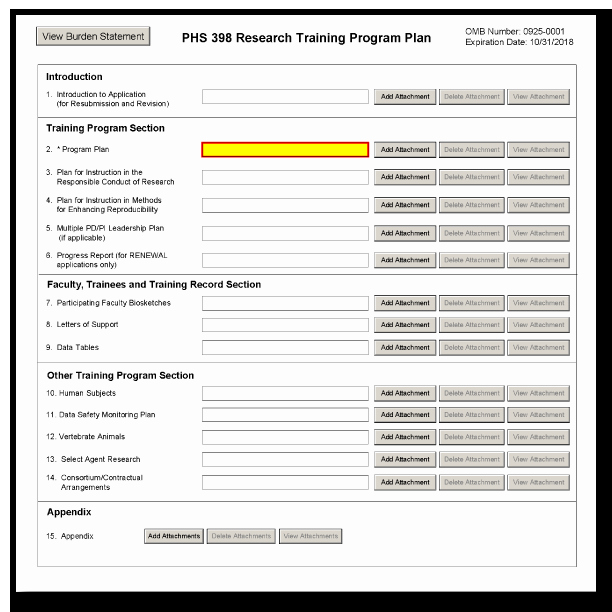 Software Training Plan Template Unique G 420 Phs 398 Research Training Program Plan form