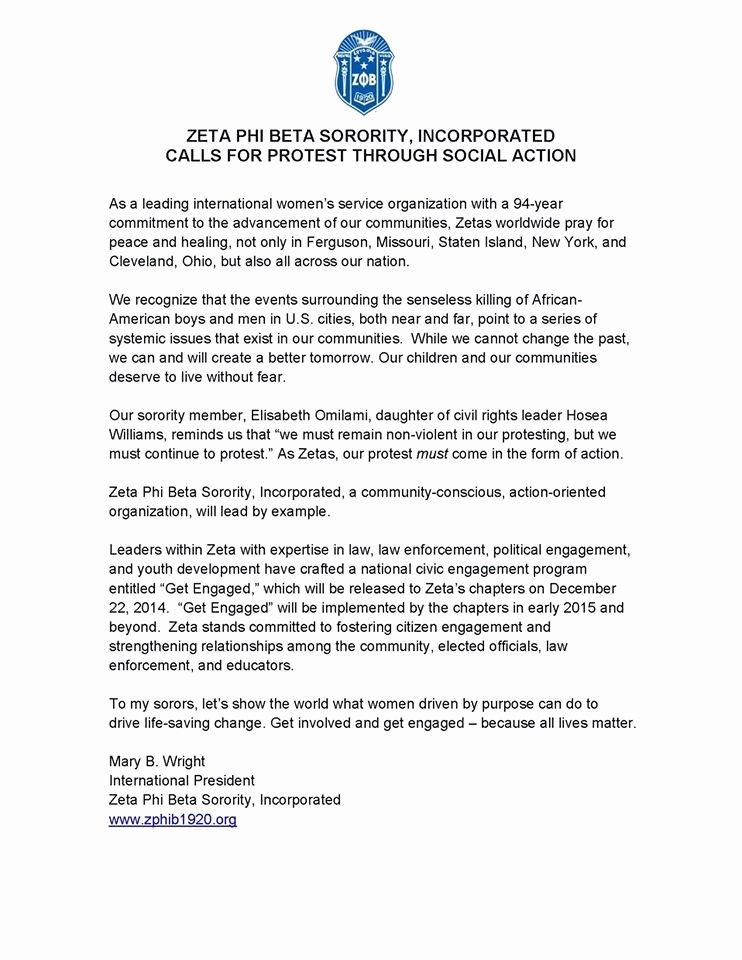 "Sorority Letter Of Recommendation Elegant Zeta Phi Beta Announces ""get Engaged "" the sorority S"