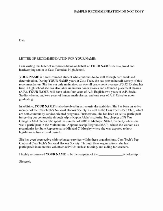 Sorority Letter Of Recommendation New Reference Letter Of Re Mendation Sample