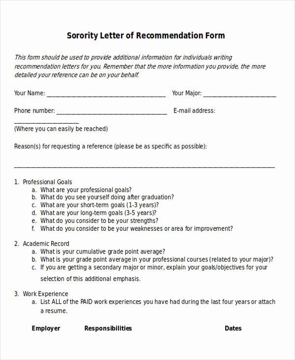 Sorority Recommendation Letter Sample Inspirational 7 Sample sorority Re Mendation Letters Pdf Doc