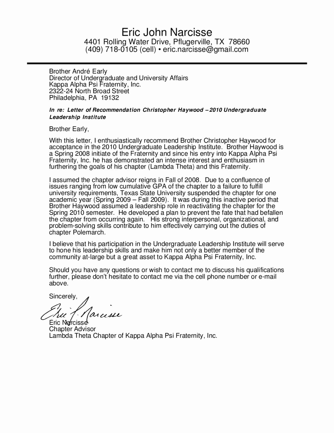 Sorority Recommendation Letter Template Best Of Letter Of Rec by Chris Haywood issuu
