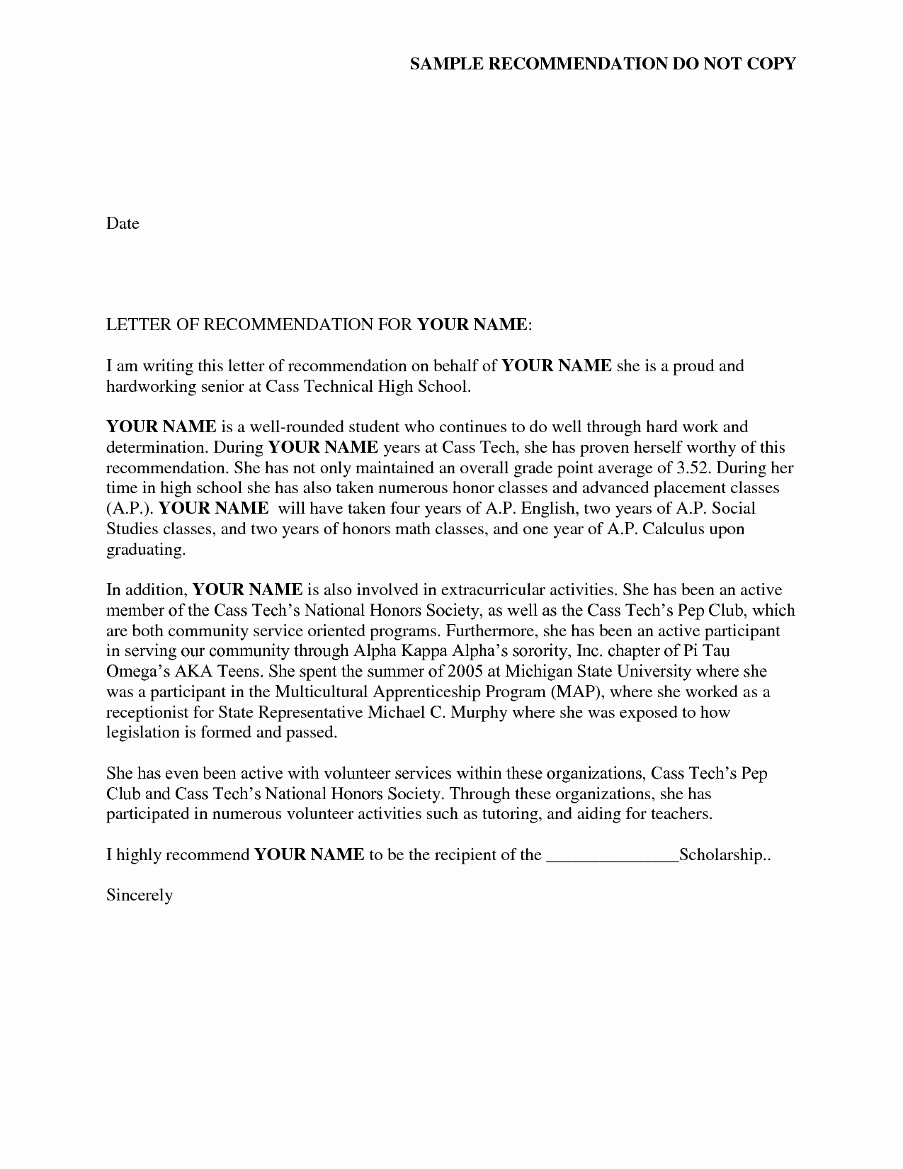 Sorority Recommendation Letter Template New Reference Letter Of Re Mendation Sample