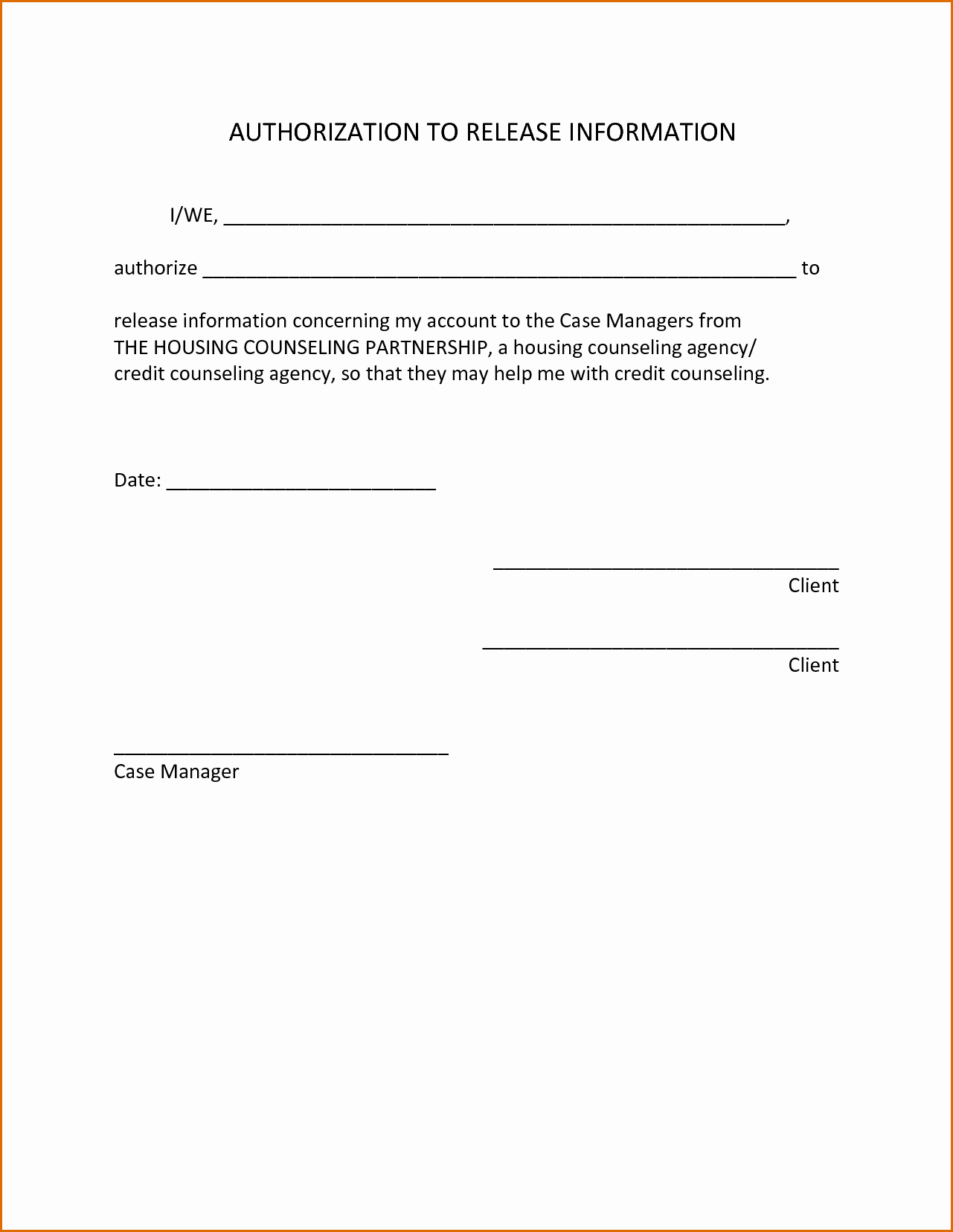 Source Of Funds Letter Template Best Of Authorization to Release Information Template Medical 11