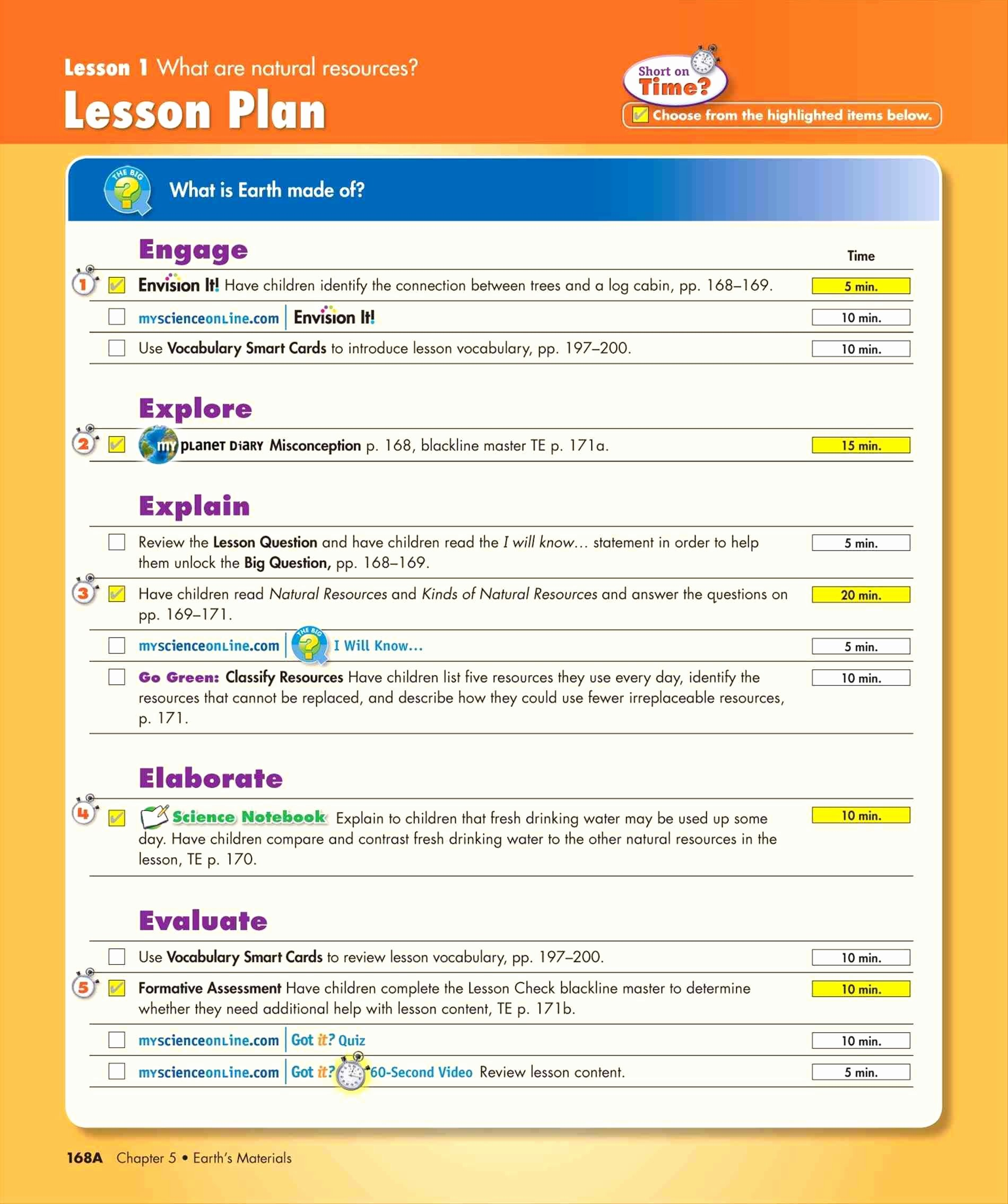 Spanish Lesson Plan Template Fresh Best Science Lesson Plans for Elementary Image Collection