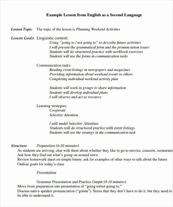 Spanish Lesson Plan Template Inspirational foreign Language Weekly Lesson Plan Template Spanish
