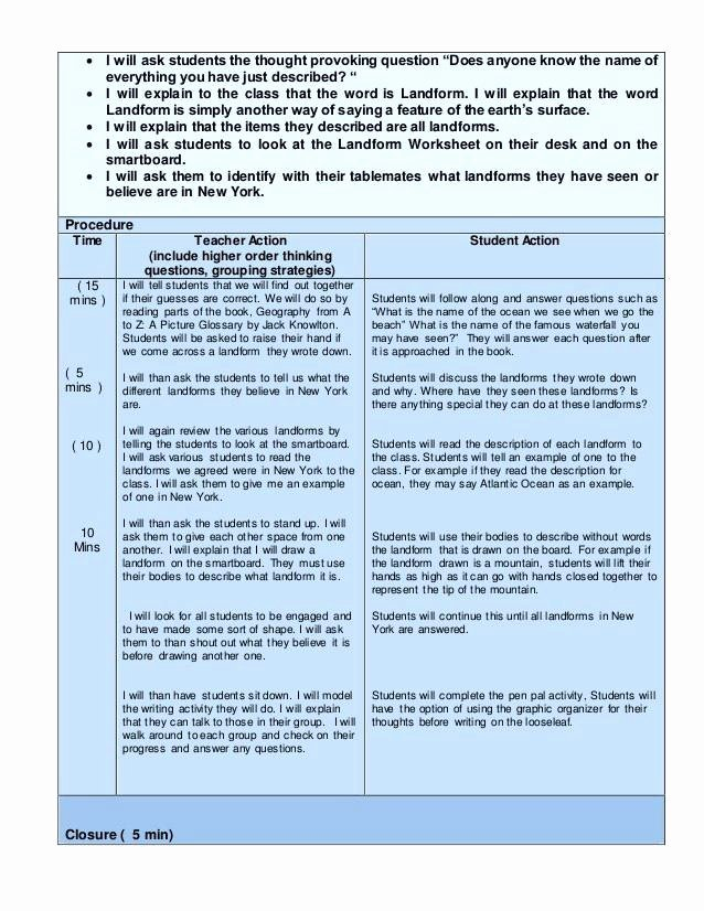 Special Education Lesson Plan Template Awesome Special Education Lesson Plan Templates New Special