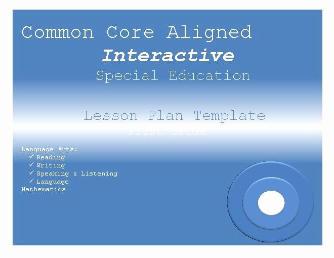 Special Education Lesson Plan Template Inspirational 107 Best Images About Special Education On Pinterest