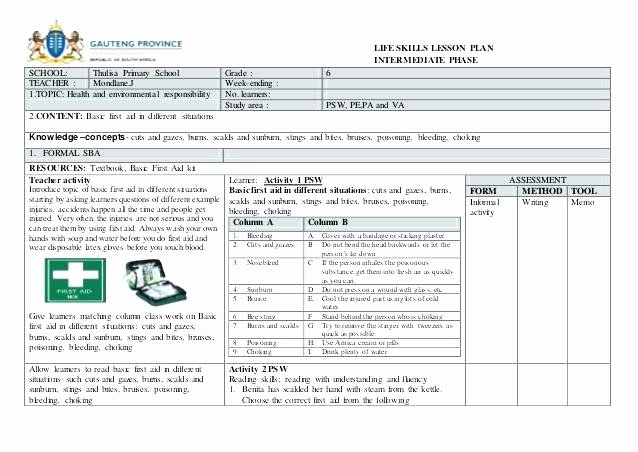 Special Education Lesson Plan Template Lovely Interdisciplinary Lesson Plan Template Special Education