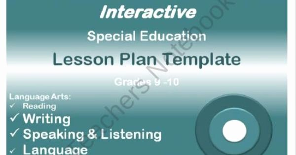 Special Education Lesson Plan Template New Mon Core Aligned Interactive Special Education Lesson