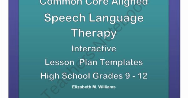Speech therapy Lesson Plan Template Beautiful Mon Core Aligned Interactive Speech Language therapy