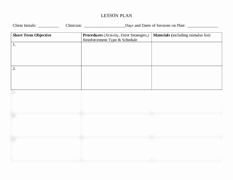 Speech therapy Lesson Plan Template Beautiful Speech and Language Lesson Plan Template Munication