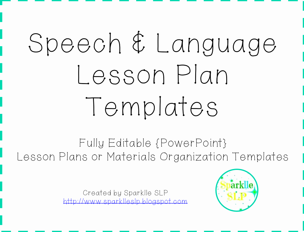 Speech therapy Lesson Plan Template Elegant August 2014 Sparklle Slp